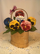 Basket of Chocolate Pansies