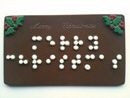 Merry Christmas card in Braille
