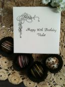 Personalized 4 Piece Box of Truffles