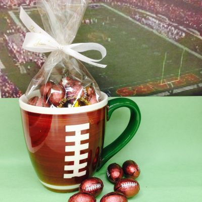 Ceramic Football Mug with Chocolate