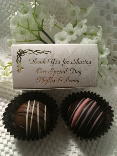 Personalized 2 Piece Box of Truffles